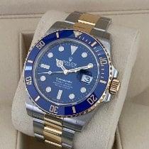 Rolex Submariner Date Or/Acier 41mm Bleu Sans chiffres