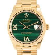 Rolex Yellow gold Automatic Green 31mm new Datejust II
