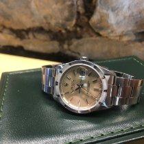 Rolex Oyster Perpetual Date Acier 34mm Argent Sans chiffres France, DAX