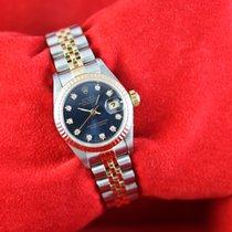 Rolex Lady-Datejust Or/Acier 26mm Bleu Sans chiffres France, Cannes