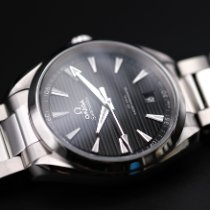 Omega Seamaster Aqua Terra pre-owned 41mm Black Date Steel
