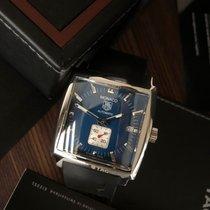 TAG Heuer Monaco Calibre 6 Steel 37.5mm Blue No numerals
