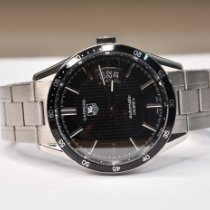 TAG Heuer Carrera Calibre 5 Steel 39.5mm Black No numerals
