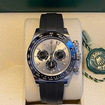 Rolex Or blanc Remontage automatique Gris Sans chiffres 40mm occasion Daytona