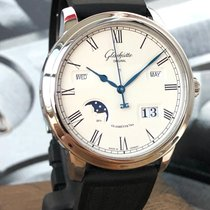 Glashütte Original Senator Perpetual Calendar Steel 42mm Silver Roman numerals
