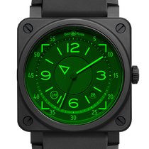 Bell & Ross Ceramic 42mm Automatic BR0392-HUD-CE/SRB new