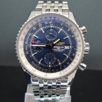 Breitling Navitimer World Steel 46mm Blue No numerals United States of America, New York, Williston Park