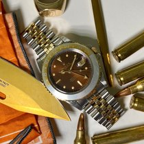 Rolex GMT-Master pre-owned 40mm Brown Date GMT Gold/Steel