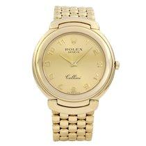 Rolex Cellini Yellow gold 37mm Gold Arabic numerals