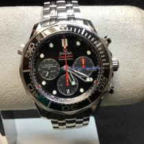 Omega Steel Automatic Black No numerals 44mm new Seamaster Diver 300 M