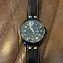 Hamilton Khaki Pilot pre-owned 46mm Black Date Weekday Leather