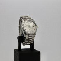 Rolex Witgoud Automatisch Zilver Geen cijfers 36mm tweedehands Day-Date 36