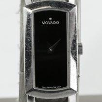 Movado Rondiro Acero 15mm Negro Sin cifras