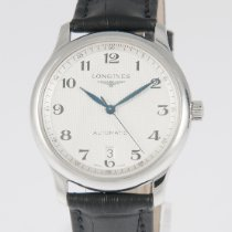 Longines Master Collection pre-owned 38.5mm Silver Date Leather