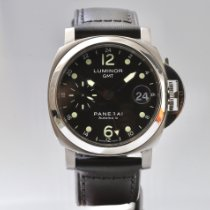 Panerai Luminor GMT Automatic Acier 40mm Noir Sans chiffres