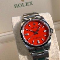 Rolex Oyster Perpetual 36 Stahl 36mm Rot Keine Ziffern Deutschland, Mannheim