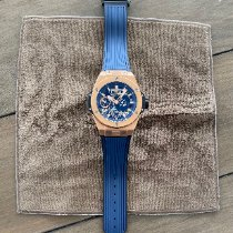 Hublot Big Bang Meca-10 Oro rosa 45mm Transparente Sin cifras