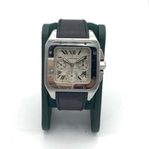 Cartier Steel Automatic Roman numerals 41mm pre-owned Santos 100