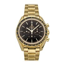 Omega Yellow gold Manual winding Black No numerals 42mm pre-owned Speedmaster Professional Moonwatch
