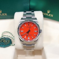 Rolex Oyster Perpetual 36 Steel 36mm Red No numerals