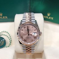 Rolex Datejust Gold/Steel 36mm Pink Roman numerals