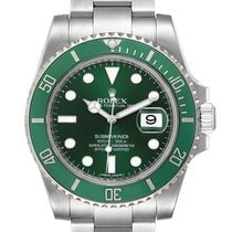 Rolex Automatic Green 40mm pre-owned Submariner Date