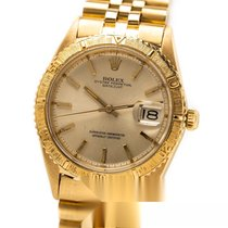 Rolex Yellow gold Automatic Silver No numerals 36mm pre-owned Datejust Turn-O-Graph