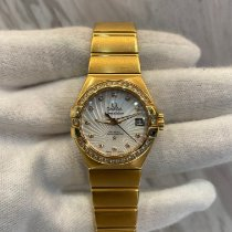 Omega Red gold Automatic Mother of pearl No numerals 28mm pre-owned Constellation Ladies