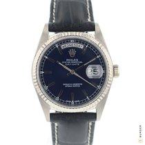 Rolex Day-Date 36 Witgoud 36mm Blauw Nederland, Maastricht