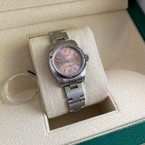 勞力士 Oyster Perpetual 26 鋼 26mm 粉紅色 阿拉伯數字