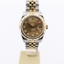 Rolex Lady-Datejust Ατσάλι 31mm Σαμπανιζέ χρώμα Ρωμαϊκοί