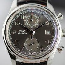 IWC Portuguese Chronograph Stål 42mm Grå Arabisk