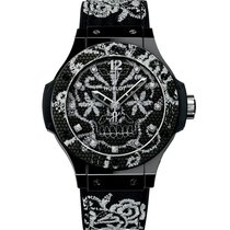Hublot Céramique Remontage automatique Noir 41mm occasion Big Bang Broderie