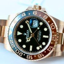 Rolex GMT-Master II Oro rosa 40mm Negro Sin cifras