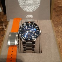 Oris Aquis GMT Date Steel 43.5mm Blue No numerals