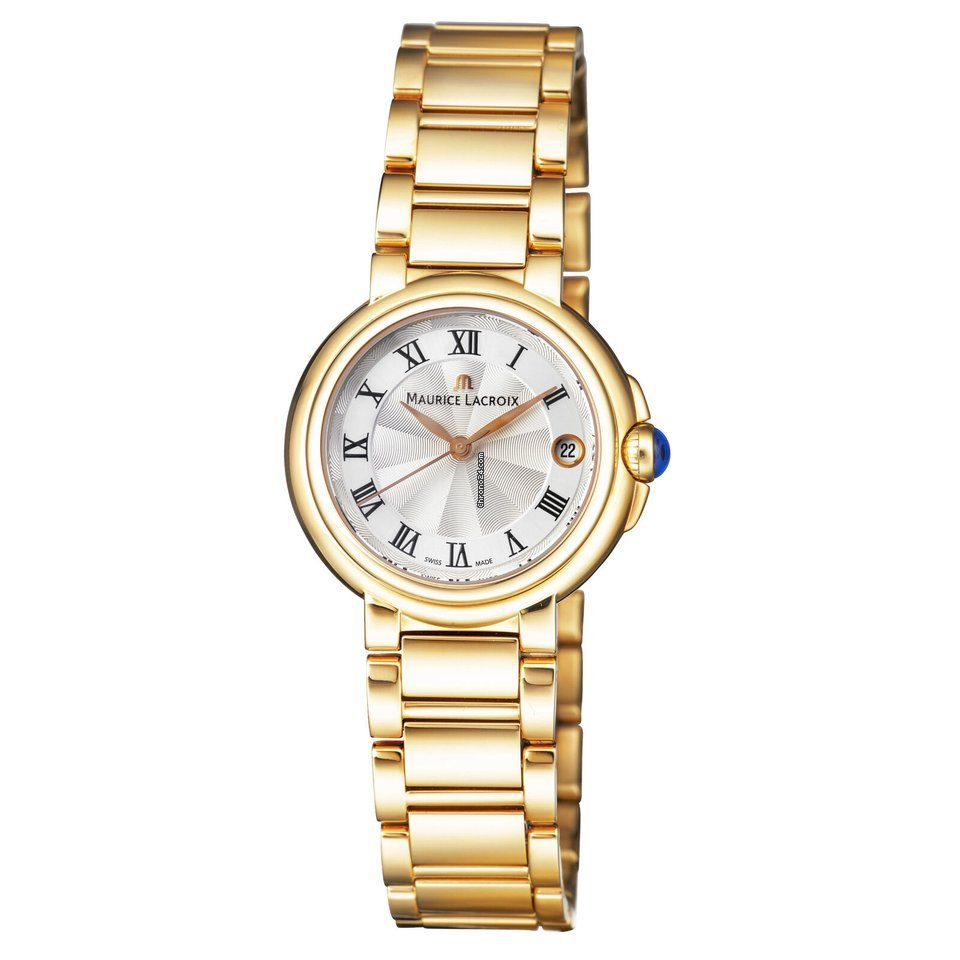 Maurice Lacroix Women's Fiaba Swiss Quartz Watch with Rose Gold Strap, 16 (Model: FA1004 PVP06 110 1)