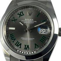 Rolex Datejust II usados 41mm Gris Fecha Acero
