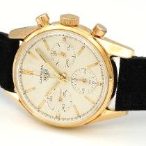 Heuer Yellow gold Manual winding Silver 36mm pre-owned