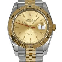 Rolex Datejust Turn-O-Graph pre-owned 36mm Champagne Date Gold/Steel