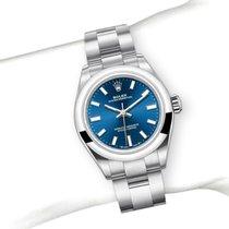 Rolex Oyster Perpetual Ocel 28mm Modrá Bez čísel