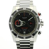 Tudor Grantour Chrono Fly-Back occasion 42mm Noir Chronographe Fonction flyback Date Acier