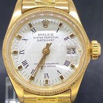 Rolex Lady-Datejust Or jaune 26mm Blanc Romains