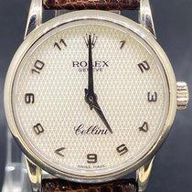 Rolex Witgoud Quartz Parelmoer Arabisch 26mm tweedehands Cellini