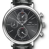 IWC Portofino Chronograph Acier 42mm Noir Sans chiffres France, Le Mans