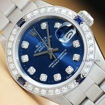 Rolex Oyster Perpetual Lady Date Acier 26mm Bleu