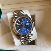 Rolex White gold Automatic Blue No numerals 41mm new Datejust II