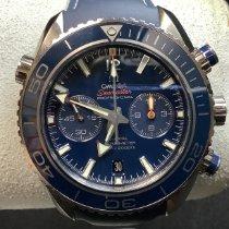 Omega Titane Remontage automatique Bleu Arabes 45.5mm nouveau Seamaster Planet Ocean Chronograph