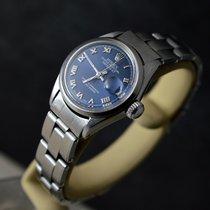 勞力士 Oyster Perpetual Lady Date 鋼 26mm 藍色 羅馬數字