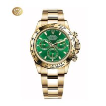 Rolex Daytona Κίτρινο χρυσό 40mm Πράσινο Xωρίς ψηφία Ελλάδα, Athens