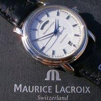 Maurice Lacroix Pontos Day Date Acél 38mm Fehér Számjegyek nélkül